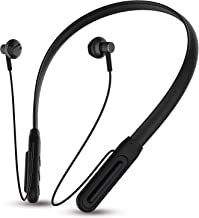 UBON Wireless Neckband Earphone CL 60 in Ear Earbuds Bluetooth Headphone with Mic Hi fi Bass Stereo Sound for Sports Gym Travelling Black