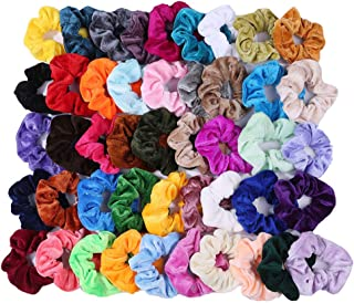 46 Pcs Hair Scrunchies Velvet Elastic Hair Bands Scrunchy Hair Ties Ropes NO RECYCLE MATERIALS