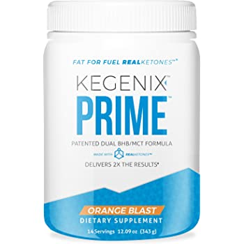 14 Day Kegenix PRIME Keto Weight Loss Supplement | Patented Keto Drink with BHB & MCT - Energetic Weight Loss - NEW & IMPROVED FLAVOR ORANGE BLAST