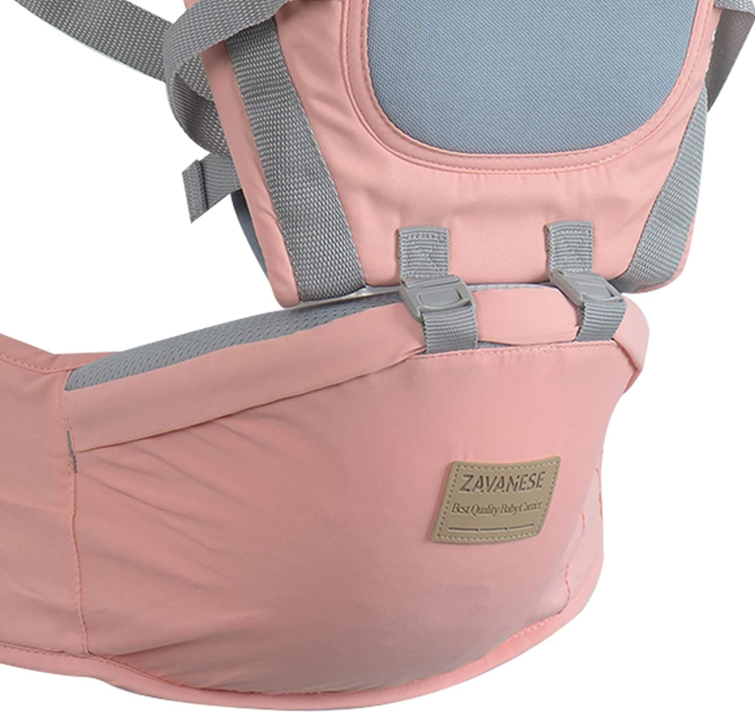 YORKING Baby Carrier Breathable Carrier for Infants and Toddlers Adjustable Baby Carrier Wrapped Carrier with Hip Seat Newborn Backpack Breastfeeding Baby Carrier Pink