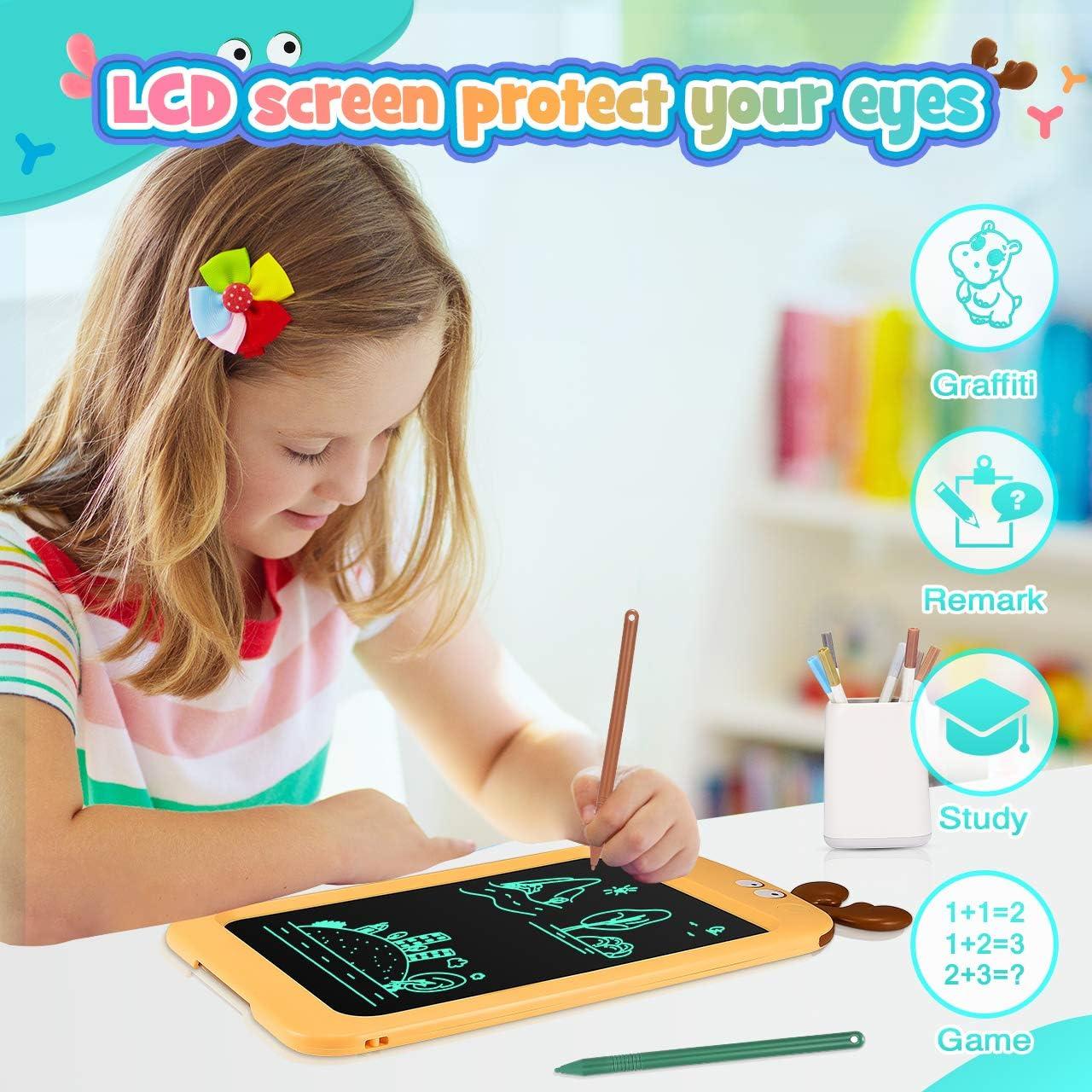 8.5 Pouces Tablette Graphique Serrure /à Cl/é /Écriture Manuscrite Doodle Dessin Pad ATOPDREAM Tableau D/écriture LCD Jouets /éducatifs /& Cadeaux