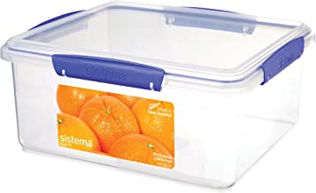 Sistema Klip It 5 Litre Klip It Rectangle Food Storage Container, Clear