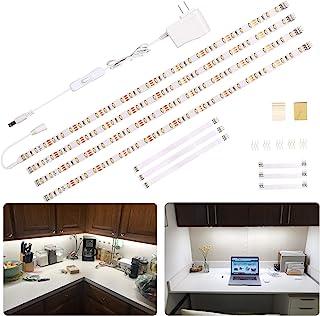 WOBANE LED Under Cabinet Lighting Kit,Flexible LED Ribbon Lights Bar,Under Counter Lights..