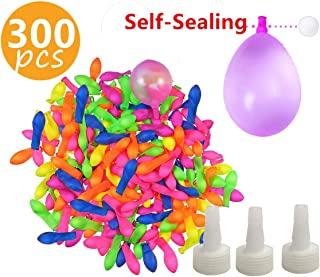 300pcs Self-sealing Water Balloons for Kids and Adults - Upgraded to Another Sealing Method - Each Latex Balloon Contains a Foam Ball,Bright & Colorful,Rapid-Filling,Fun Games for Outdoor Party Fight
