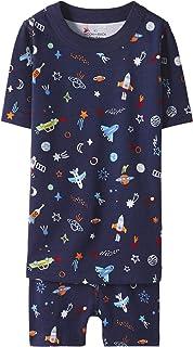 Moon and Back by Hanna Andersson Juego de Pijama Corto de 2 Piezas. Pajama-Sets Unisex niños