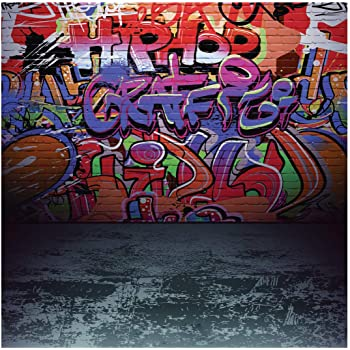 Graffiti Wall Backdorp 10x6.5ft Photography Backgroud Artistic Studio Props