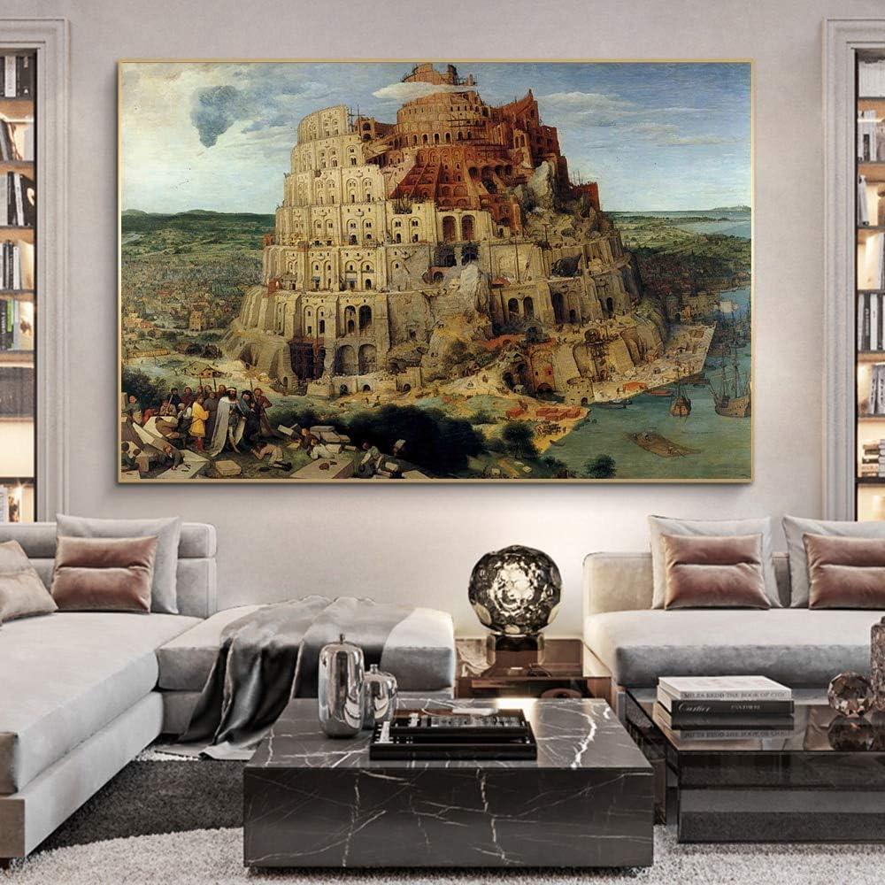DSGTR Dipinto ad Olio Astratto Dipinto a Mano Maestro//Rene Magritte Babel Lavora Pittura//Soggiorno Pittura Moderna Arte Astratta della Parete
