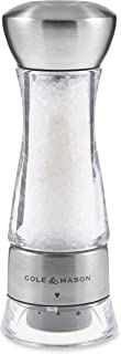 Cole & Mason Gourmet Precision Windermere Salt Mill, Stainless Steel and Acrylic 16.5 cm