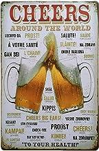 Lovemay 1PC Retro Flair Plaque Murale avec Bier Spruch Bar Plaque publicitaire en m/étal pour de nombreux endroits comme le bar