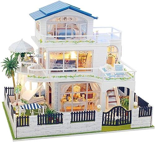 Evav Puppenhaus Miniatur DIY Haus Kit, Mini Holz Modellbau Spielzeug Freunde, Liebhaber und Familien (Impression Vancouver