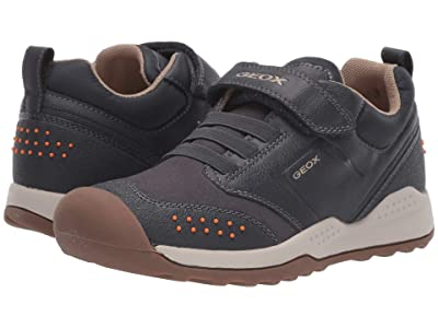 Geox Kids Jr Teram 1 (Big Kid) (Navy/Orange) Boys Shoes
