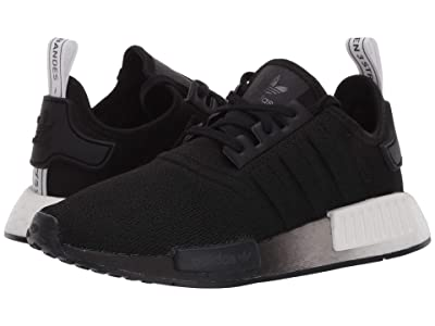 adidas Originals Kids NMD_R1 J (Big Kid) (Black/White 1) Kids Shoes