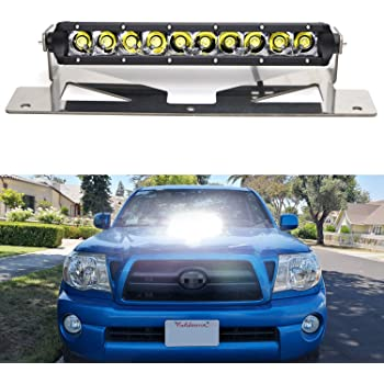 6 inch Driver side WITH install kit -Black LED 2008 Toyota TUNDRA DOUBLE CAB Post mount spotlight