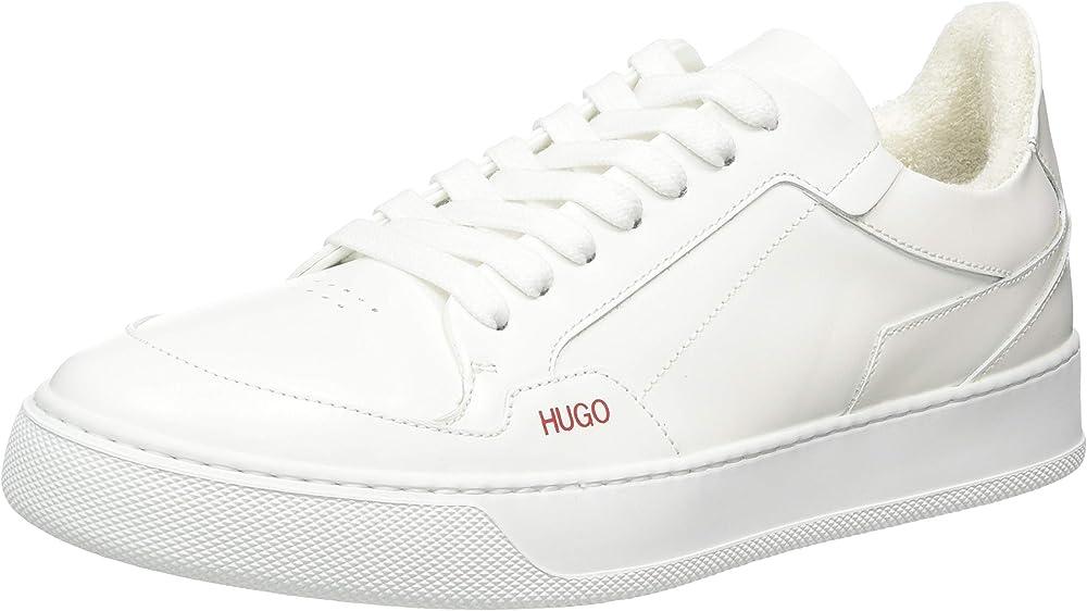 Hugo boss , vera lace sneakers-c, scarpe da ginnastica per uomo,in vera pelle 50441869