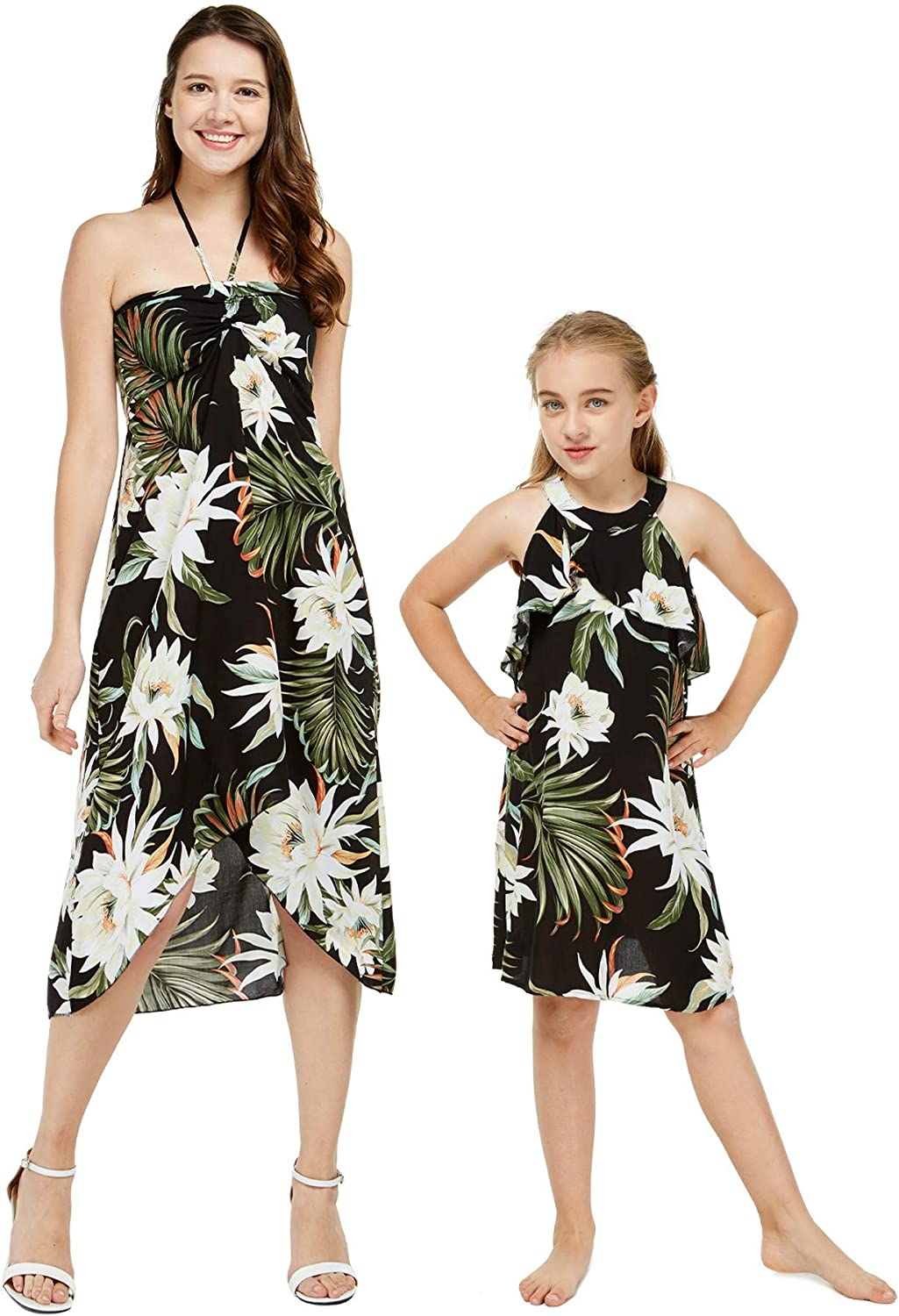 Matching Hawaiian Luau Mother Daughter Cer in Halter Sales for Free shipping sale Dress Wispy