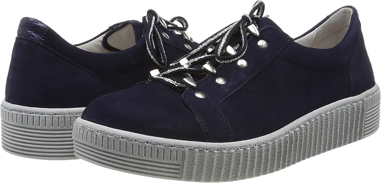 Gabor Shoes Womens Gabor Jollys Low-Top Sneakers Blue Bluette//Night 16
