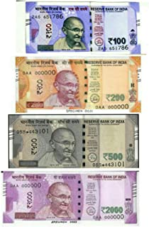 e shopping dummy indian currency notes 400 units, each 100 notes of 100, 200, 500, 2000 rupee notes for children playing a...