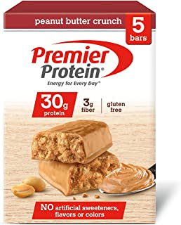 Premier Protein 30g Protein Bar, Peanut Butter Crunch, 2.53 oz Bar, (5 Count)