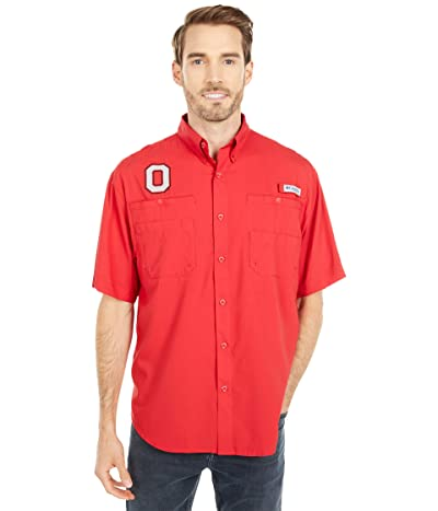 Columbia College Ohio State Buckeyes Tamiami Short Sleeve Shirt (Intense Red) Men