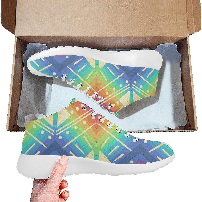 InterestPrint Women Basketball Running shoes Lightweight Sports Sneakerscolor Rainbow Prints