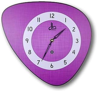 Horloge murale style vintage violette années 70