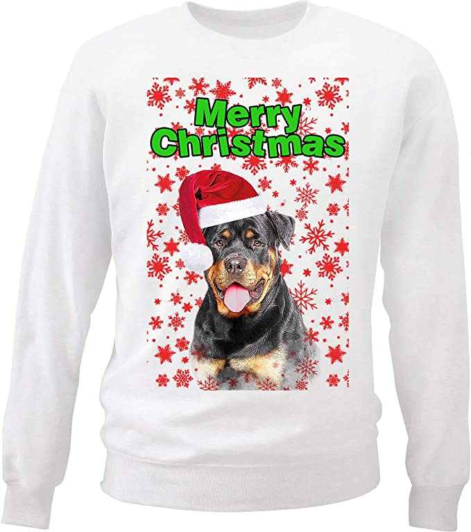 teesquare1st Rottweiler Merry Christmas Snowflakes P1 ...