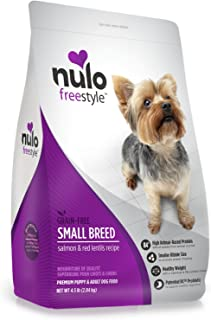 Nulo Small Breed Grain Free Dry Dog Food with BC30 Probiotic, Salmon & Red Lentils Recipe - 4.5 or 11 lb Bag