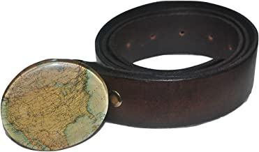 """product image for Men's West Ender United States Map Buckle and Leather Belt 35"""" - 40"""""""