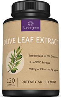 Premium Olive Leaf Extract Capsules – Standardized to 20% Oleuropein – Super Strength Olive Leaf Exact Supp...