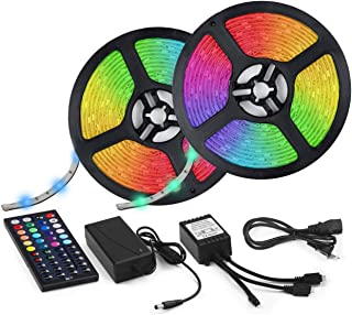 LED Strip Lights 32.8ft RGB IP67 Waterproof with Extra Adhesive 3M Tape - Professional Changing Multi-Color LED Light Strips with Remote - Decoration Lighting for Room, Bedroom, Home, Kitchen, Xmas