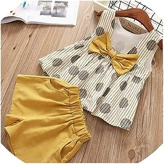 Sheep Shop-Dress 2019 Ropa de niños Moda niñas Ropa Lindo Pantalones Cortos Grandes 2 Piezas Chaleco Infantil Traje de Ropa para niñas Traje