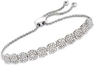 2.00 ct. t.w. Diamond Cluster Bolo Bracelet in Sterling Silver