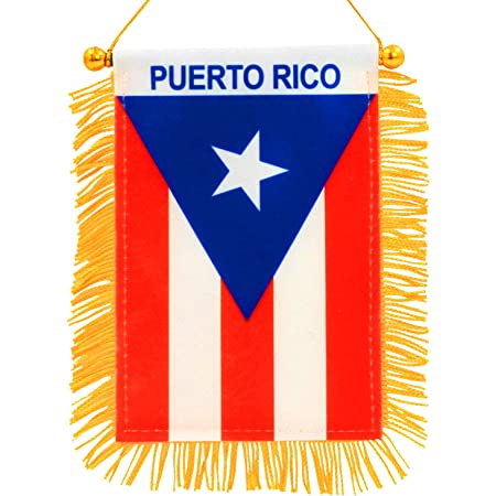 Boricua Puerto Rican Rico Flags for Cars Quality Made Sticks to Glass Quick and Easy Bandera de Puerto Rico para Autos