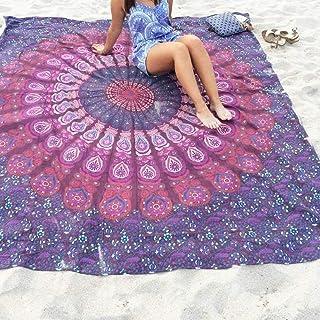 Asenart Mandala Beach Towel Print Beach Towel Tapestry Chiffon Tablecloth, Sofa Cover, Curtains Picnic Blanket Shawl Manda...