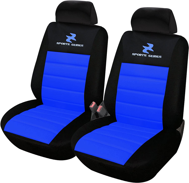 Esituro Scsc0074 2er Einzelsitzbezug Universal Sitzbezüge Für Auto Schonbezug Schoner Dicke Gepolstert Blau Auto