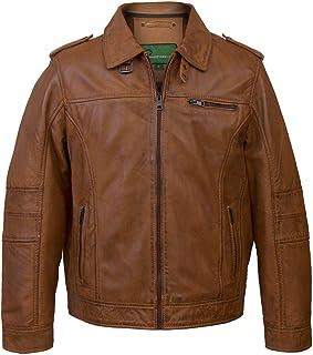 HIDEPARK Mason: Men's Rust Hooded Leather Jacket