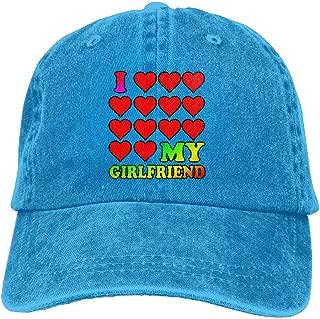 I Love My Girlfriend Denim Hat Cool Unisex Washed Cap Dad Stetson Hat