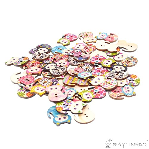 10 Unusual Large Bright Coloured Cat Shaped Wooden Buttons FREE P/&P