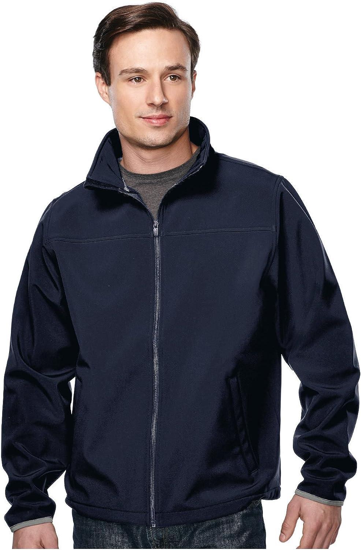 Tri-Mountain Men's Soft Shell Waterproof Sretch-Fit Jacket