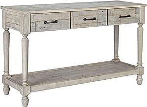 Signature Design by Ashley - Shawnalore Console Table, Whitewash Wood