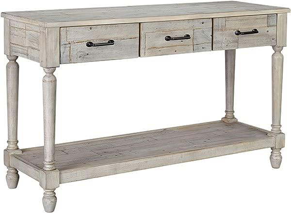 Signature Design By Ashley T782 4 Shawnalore Sofa Table Whitewash