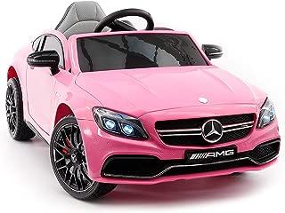 mercedes benz pink ride on car