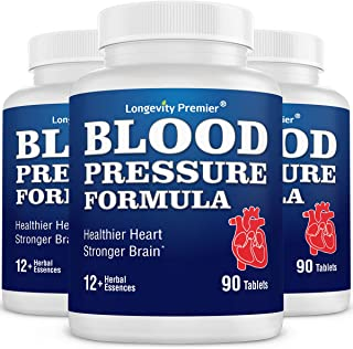[3-Bottle Value Pack] Longevity Blood Pressure Formula [90 Tablets] -Scientifically formulated - with 10+ standardized Her...