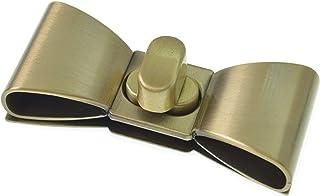 Bobeey 2sets 55x23mm Classy Brushed Brass Bowknot Purses Locks Clutches Closures,Metal Bow Shape Twist Locks Purse Closure...