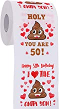 50th Birthday Gifts for Men and Women - Happy Prank Toilet Paper - 50th Birthday Decorations for Him, Her - Party Supplies Favors Ideas - Funny Gag Gifts, Novelty Bday Present for Friends, Family