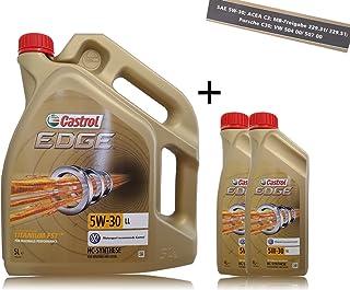 2x 1l + 5l = 7litros Castrol Edge