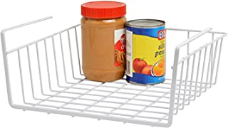 House of Quirk Metal Under Shelf Basket Wire Rack, 15.5x9x5-inches, White