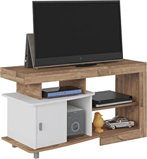 Artely MDF/MDP Royal TV Table for 47 inch TV, Rustic Brown with White, H65 x W48 x D122 cm