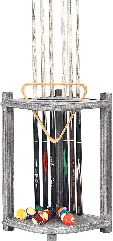 New trend rank York Mall SUYUDD Pool Cue Rack Solid Stick St Wood Billiard Stand