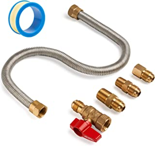 SHINESTAR 5-Piece One Stop Universal Gas Appliance Hook Up Kit for Gas Log, Garage Heater, Gas Stove and Wall Mounted Heater